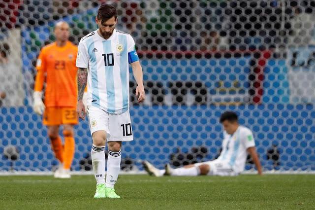 Messi, apagado, não conseguiu evitar a derrota da Argentina para a Croácia