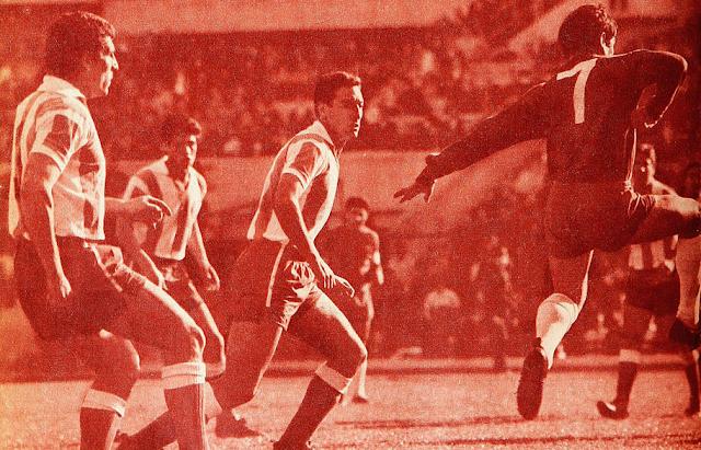 Chile y Argentina en partido amistoso, 15 de agosto de 1967
