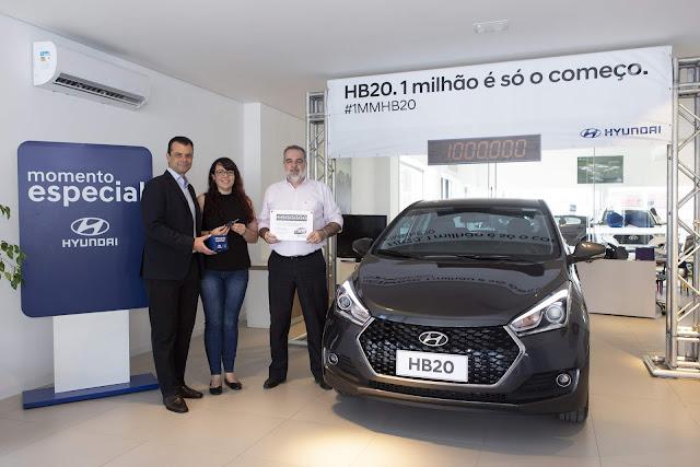 Hyundai HB20 atinge marca de 1 milhão vendidos no Brasil