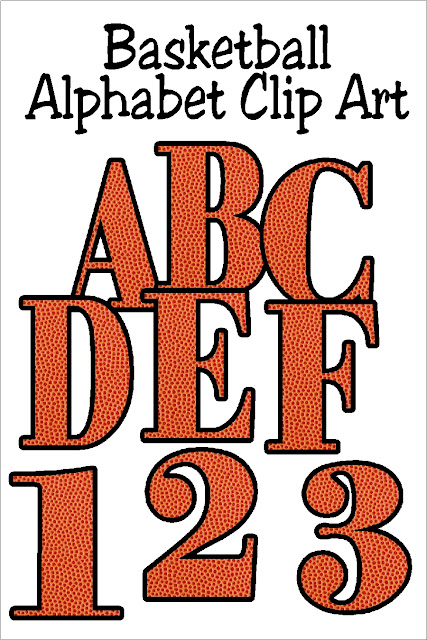 Decorate your favorite basketball scrap book pages or your basketball party printables with this fun Basketball alphabet. Each letter is filled with a background of the orange basketball and dimples to bring the basketball right into your projects.  #basketballparty #alphabet #basketballclipart #diypartymomblog