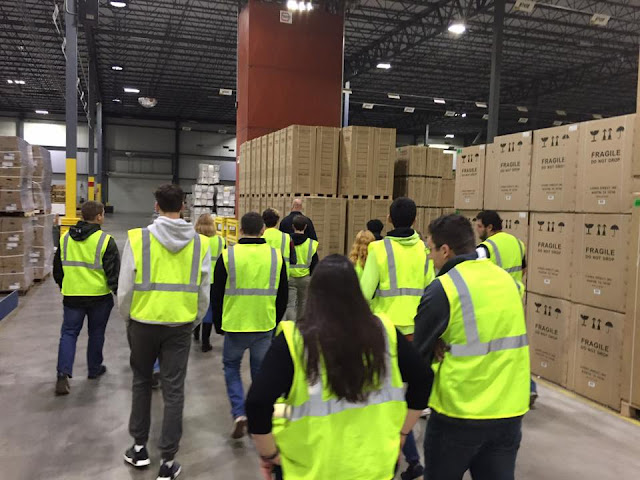 Students tour the Ferguson Distribution Center