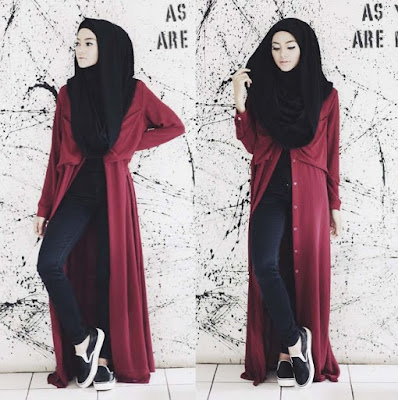 fashion hijab casual simpel