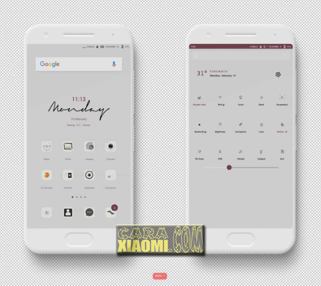 MIUI Thema PureWhite Mtz Update New Themes For Xiaomi