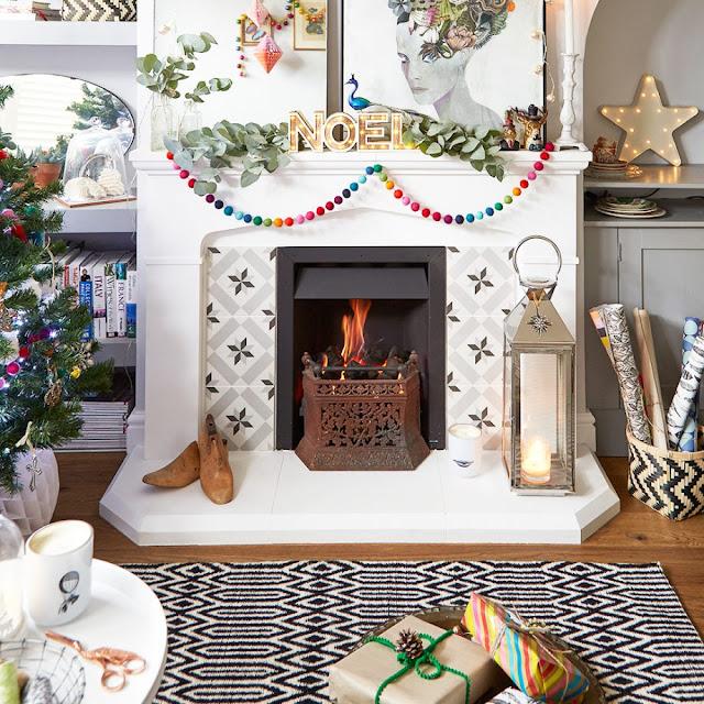 Crăciun boho șic într-o casă din Marea Britanie
