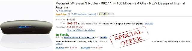 Medialink wireless N Router Coupon