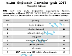 Tnpsc Current Affairs June 2017 (Tamil) - Compiled Edition - Download PDF