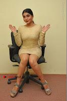 Actress Pooja Roshan Stills in Golden Short Dress at Box Movie Audio Launch  0051.JPG