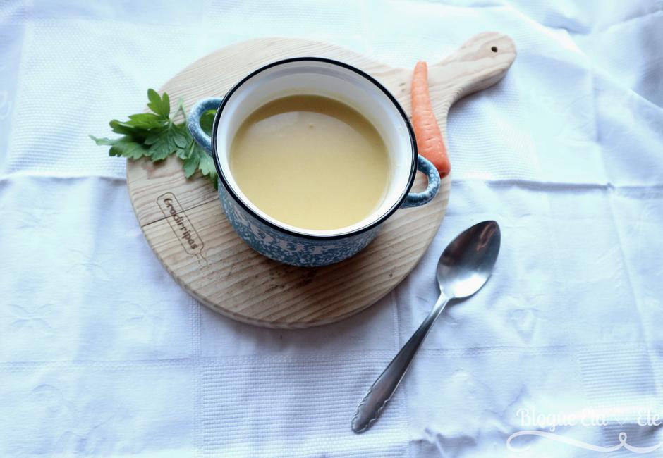 Receita + sopa de couve flor + sem batata + com cenoura + creme + sopa caseira + blogue de casal + português + telma e pedro + blogue ela e ele + ele e ela