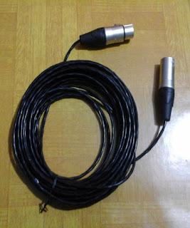 Sewa Kabel XLR Microphone, Kabel Canon