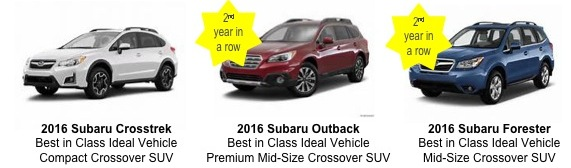 Subaru ödüleri topladı