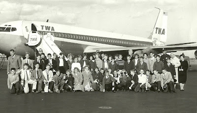 Kinnelon 7th Grade field trip to Newark Airport early 60s - Herb Fisher
