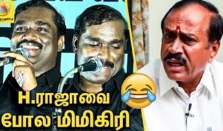 T Velmurugan Raging Speech against H Raja's