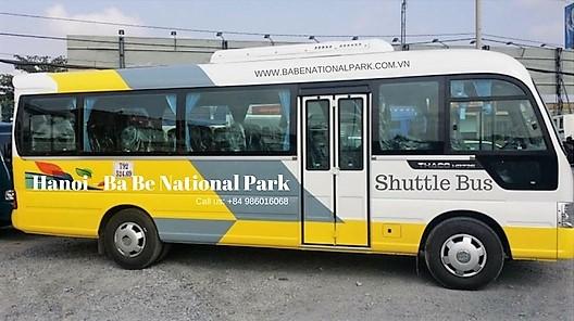 shuttle bus ba be national park vietnam