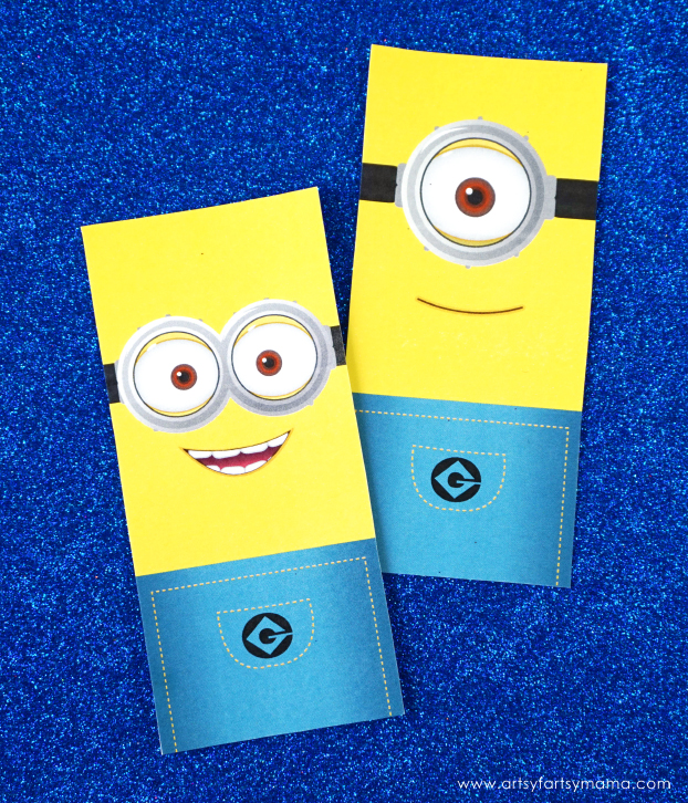 photograph relating to Minion Logo Printable known as Cost-free Printable Minion Bookmarks artsy-fartsy mama