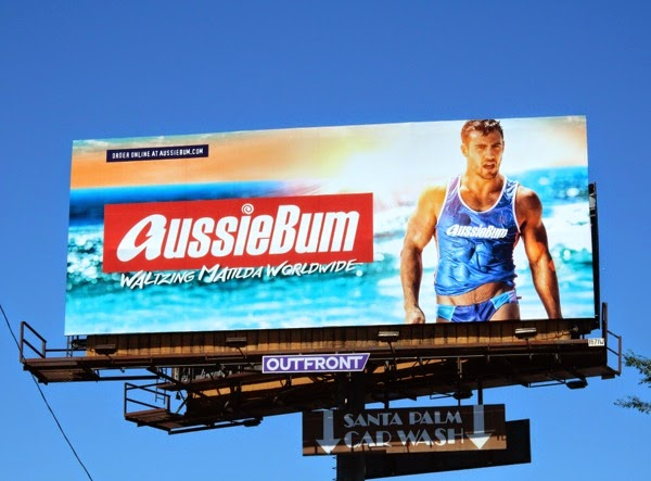 AussieBum swimwear Waltzing Matilda Worldwide billboard