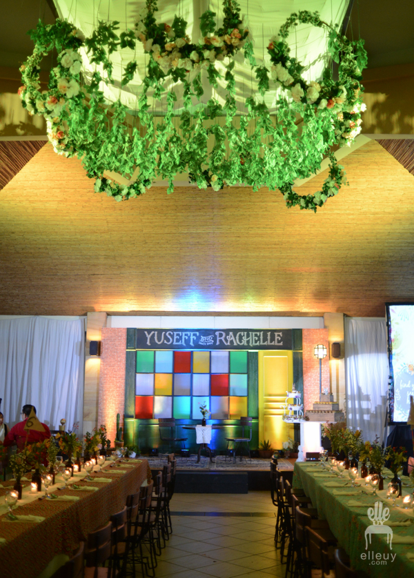 colorful wedding reception, unique wedding reception design, ayala hillside clubhouse