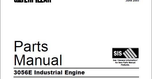 Free Automotive Manuals: CAT 3056E Industrial Engine Parts