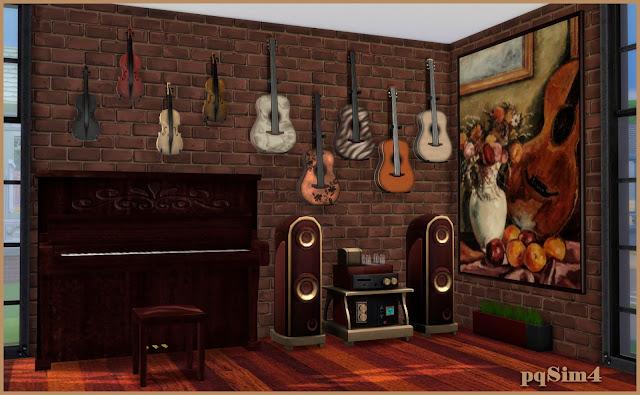 Sala de música. Sims 4 CC.Detalle1