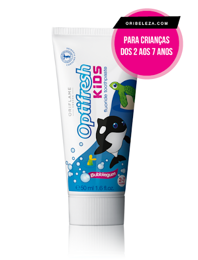 Pasta de Dentes com Flúor Bubblegum Optifresh Kids