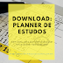 Planner de estudos para Download (sem data)