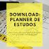 Planner de estudos para Download (sem data)