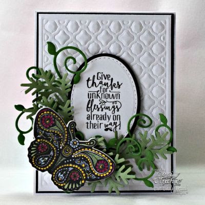 Our Daily Bread Designs, Boho Blessings, Fancy Foliage Die, Fancy Fritillary die, Boho Background Die, designed by Lori Ulrich