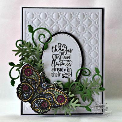 Our Daily Bread Designs, Boho Blessings, Fancy Foliage Die, Fancy Fritillary die, Boho Background Die, designed by Lori Ulrich