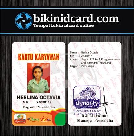 Id Card Murah Contoh Kartu Pegawai
