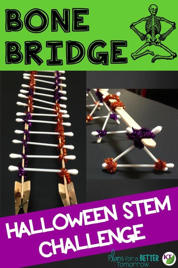 Skeleton Bridge Halloween 2020 Halloween Activity & STEM Challenge: Bone Bridge   Feel Good Teaching