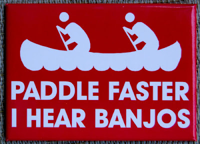 Funny Signs Paddle Faster Banjos