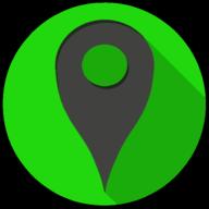 location colorful button