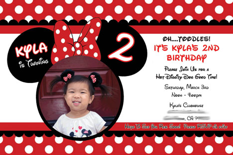 Real Party Minnie Mouse 2nd Birthday