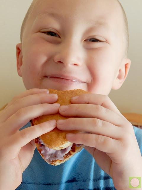 blueberry cheesecake pancake sandwiches krusteaz giveaway (sweetandsavoryfood.com)