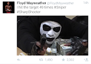 Floyd Mayweather's 'Dead Presidents' Halloween costume included stacks of cash and a gun