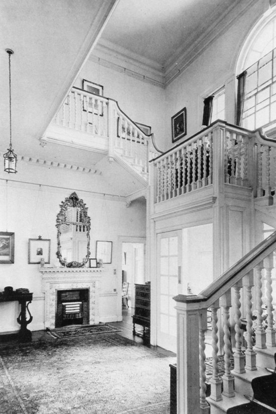 Fig.11. Photograph of the staircase hall, 1933. (By courtesy of Lady Stourton)