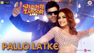 Pallo Latke from Shaadi Mein Zaroor Aana: This song is in voice of Fazilpuria, Jyotika Tangri & Yasser Desai, composed by Raees & Zain - Sam while lyrics is penned by Kumaar,
