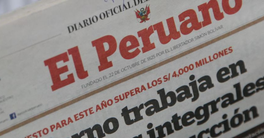 Diario «El Peruano» está de aniversario y cumple 193 años - www.elperuano.com.pe