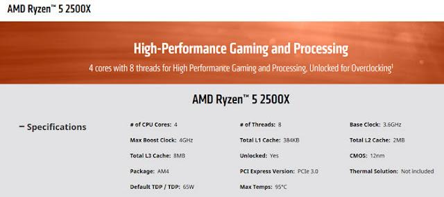 AMD Ryzen 2700E, 2600E, 2500X dan 2300X Resmi Di Umumkan