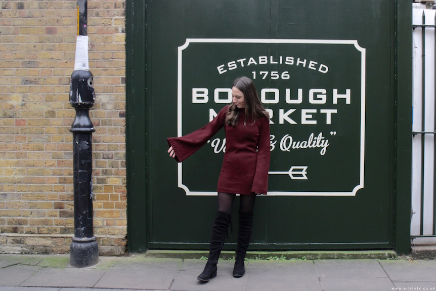 collaboration, dress, fashion, OOTD, outfit, sponsored, style, Tobi, Public Desire, winter, over the knee boots,