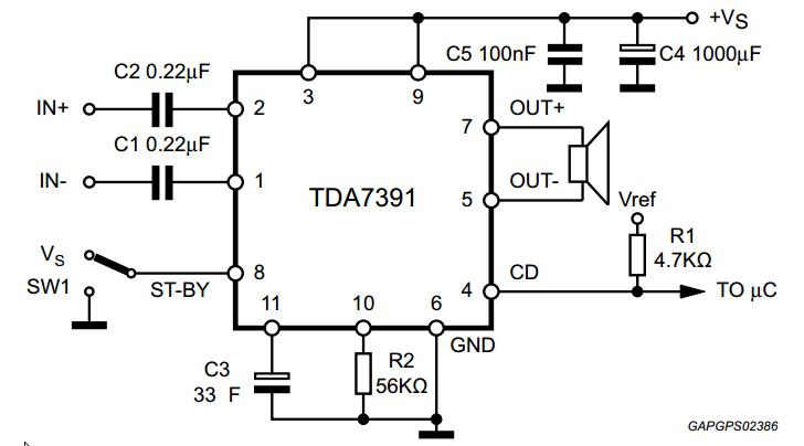 35 w bridge car radio amplifier tda7391