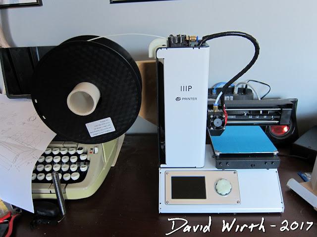 simple filament spool holder for 3d printer