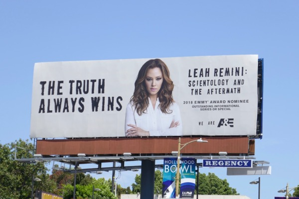 Leah Remini Scientology 2018 Emmy nominee billboard
