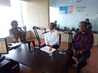Tangkal Isu SARA Jelang Pemilu, Humas Polda Maluku Gelar Dialog di RRI Ambon