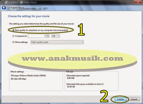 Cara Menggabungkan Lagu MP3 di Movie Maker