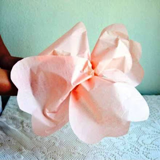 Cara Membuat Kerajinan Tangan Dari Kertas, Bunga Kertas 8