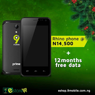 Enjoy 12 months of FREE data when you buy 9mobile Rhino 2 (Prime 1) smartphone