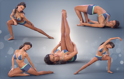 Z Stretching Out - Poses for Genesis 3 Female and Victoria 7