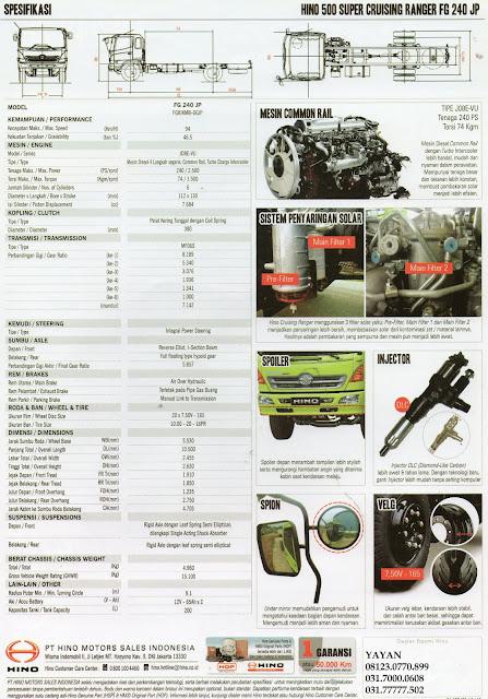 spesifikasi hino ranger fg 240 jp