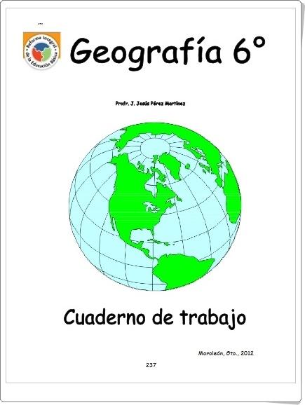 """""""Geografía 6º"""" (Cuaderno de trabajo)"""