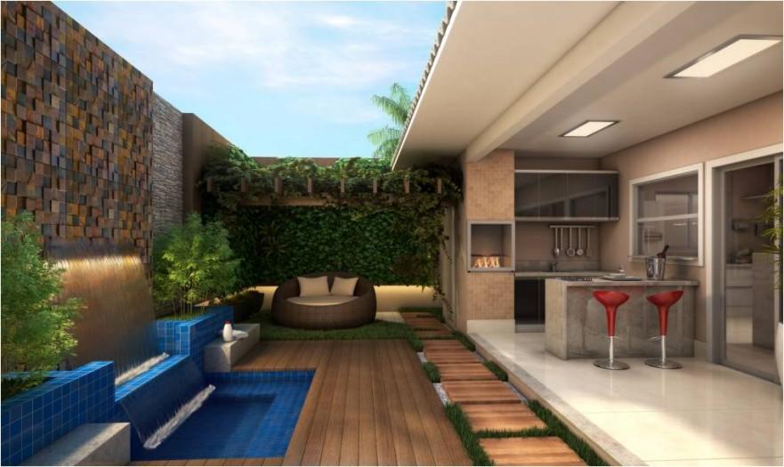 Construindo minha casa clean 12 varandas modernas com for Piscinas modernas pequenas